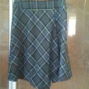 Plaid Blue Skirt